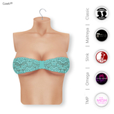 Gawk! Cyan Lace Bandeau Top incl. Appliers for #TheMeshProject, Maitreya Lara, Slink Physique & Omega System