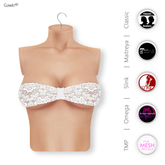 Gawk! White Lace Bandeau Top incl. Appliers for #TheMeshProject, Maitreya Lara, Slink Physique & Omega System