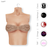 Gawk! Brown Lace Bandeau Top incl. Appliers for #TheMeshProject, Maitreya Lara, Slink Physique & Omega System