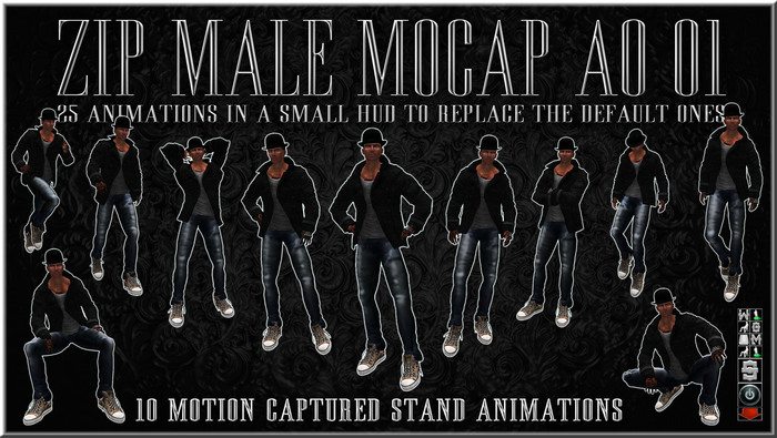 *zip* Male Model MoCap AO 01 - animations override