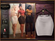 [Cynful] Dapper Skirt - White [Maitreya Lara, Belleza (Isis, Freya + Venus), Slink (Physique + Hourglass)]
