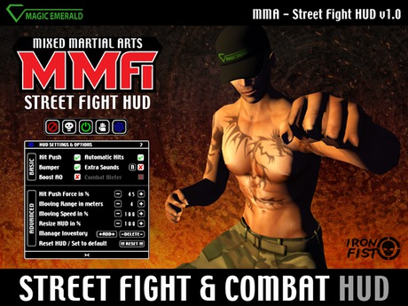 MMA Combat - Street Fight HUD - Mixed Martial Arts