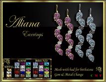 RJ Aliana Earrings - Gemstones hud