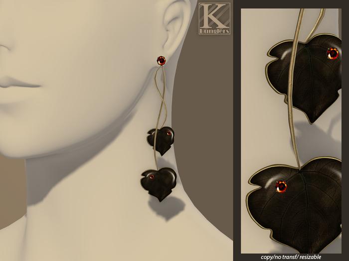 (Kunglers) Milena earrings - Garnet