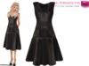 %50WINTERSALE Full Perm CLASSIC RIG 5 SIZES | MI Mesh A Line Leather Dress