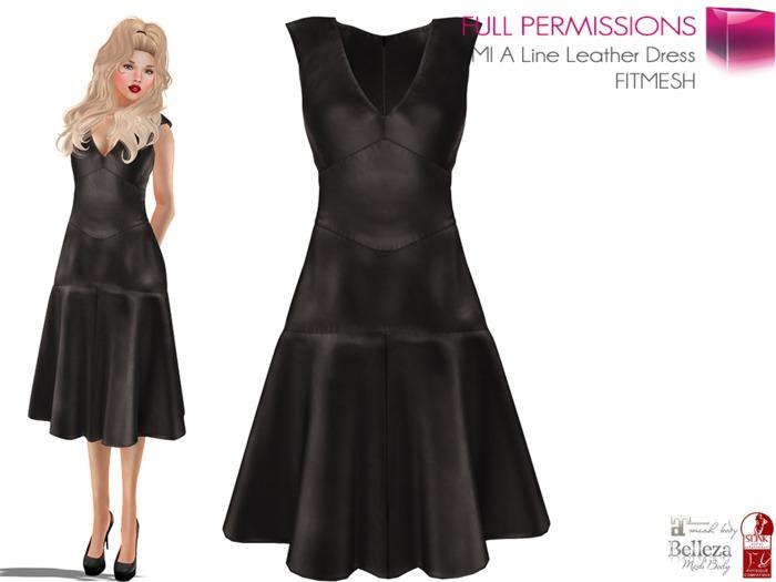 %50WINTERSALE Full Perm MESH BODIES & FITMESH 5 SIZES | A Line Leather Dress FITMESH - Slink - Maitreya - Belleza