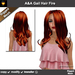 A&A Gail Hair Fire (Special Color). Rigged mesh long womens hairstyle. Functional DEMO