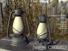 [we're CLOSED] kerosine lanterns galvanised