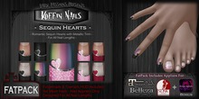 Koffin Nails - FatPack - Sequin Hearts