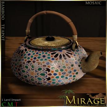 =Mirage= Bamboo Teapot - Mosaic