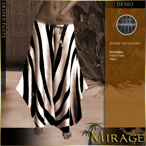 =Mirage= Draped Pants DEMO (wear & touch)