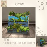 ~ASW~The Abandoned Dresser Planter~ Ombre