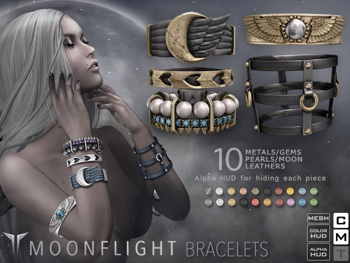 **RE** MoonFlight Bracelets *MESH* (**Raven** Collection)
