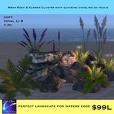 Mesh Rock & Flower Landscape (crate)