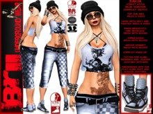 **DALIA BLUE VERSION STREET STYLE COMPLET OUTFIT **