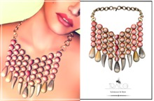 Salome Necklace Coral by Tracei