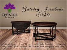 Thistle Homes - Gateleg Jacobean Table Dark Wood