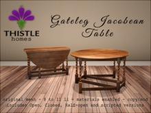 Thistle Homes - Gateleg Jacobean Table Light Wood