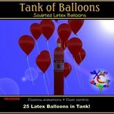 25 Red Balloons au réservoir d'hélium - Ballons Ville Xntra