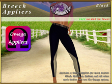 *E* Breeches Omega Applier [BOXED] Black