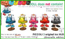 PICCOLI3 HUD(Overalls white)