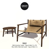 Concept}* Suede Max Armchair+Table