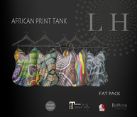 L&H ::FAT PACK African print Tank :: fitted mesh