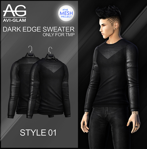 AG. #TMP. Dark Edge Sweater - 01