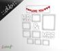 ::db:: MR & MRS Wall Frames rose love