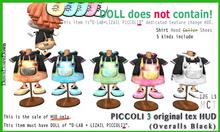PICCOLI3 HUD(Overalls Black)