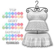 Graffitiwear Pastel Macrame Top & Skirt Set