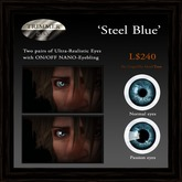 Eyes - 'Steel Blue' by Trimmer Bay