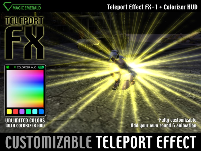 Teleport Effect FX-1 & Colorizer HUD - Fully customizable !