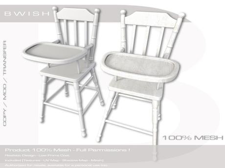 Bwish Vintage Baby High Chair Mesh