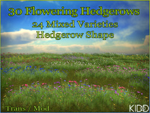 30 KIDD Flowering Meadow Hedgerows * Hedgerow Shape * 24 Mixed Textures * TransMod