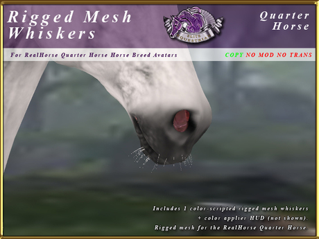 *E* RealHorse Rigged Mesh Whiskers [BOXED] RHQH