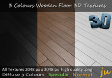 JU 3 Colours Wooden Floor 3D Textures Full Perm