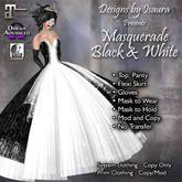 Masquerade Black & White
