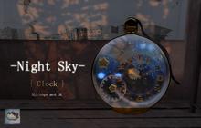 *::.who what.::* -Night sky- Clock