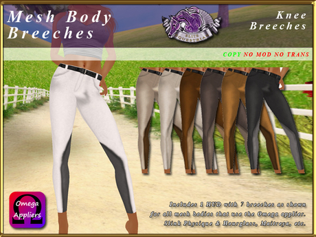 *E* Breeches Omega Applier [BOXED] Knee Breeches