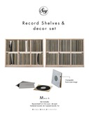 Soy. Record shelves  and decor set