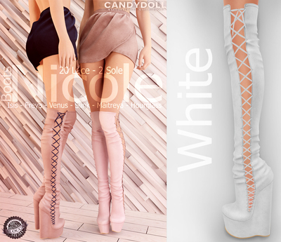 _CandyDoll_ Nicole Boots White