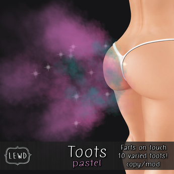 : Lewd :  Tooter (pastel) Fart Clicker
