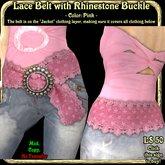 Wunderlich's pink Lace Belt
