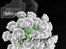 p-a-b celebration rose bouquet white