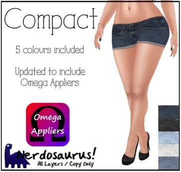 Nerdosaurus - Compact Shorts (Omega Appliers)