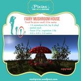 .:pixies:. small .50m fairy mushroom house