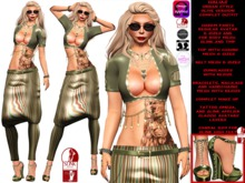 **HALIAS OLIVE VERSION URBAN STYLE COMPLET OUTFIT **