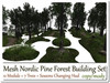 Mesh nordic pine forest hud changing set 12 parts 7 trees2