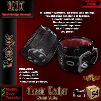 KDC Classic Leather Cuffs